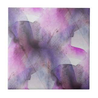 seamless cubism purple abstract art tile