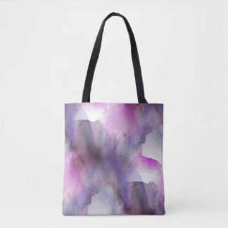 seamless cubism purple abstract art tote bag