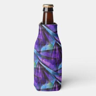 seamless cubism purple, blue abstract art bottle cooler
