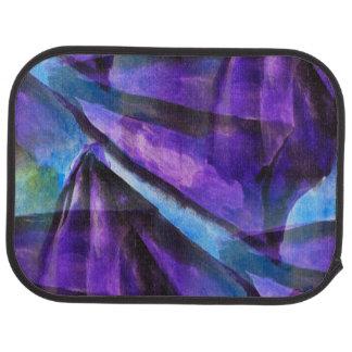 seamless cubism purple, blue abstract art car mat