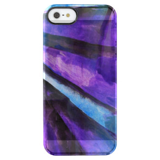 seamless cubism purple, blue abstract art clear iPhone SE/5/5s case