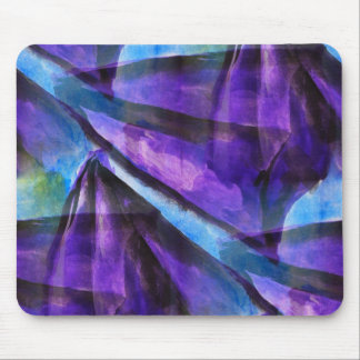 seamless cubism purple, blue abstract art mouse pad
