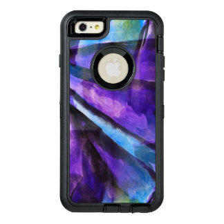 seamless cubism purple, blue abstract art OtterBox iPhone 6/6s plus case