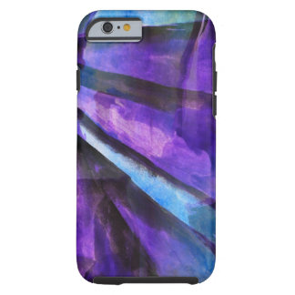 seamless cubism purple, blue abstract art tough iPhone 6 case