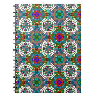 Seamless Decorative Pattern Spiral Note Book