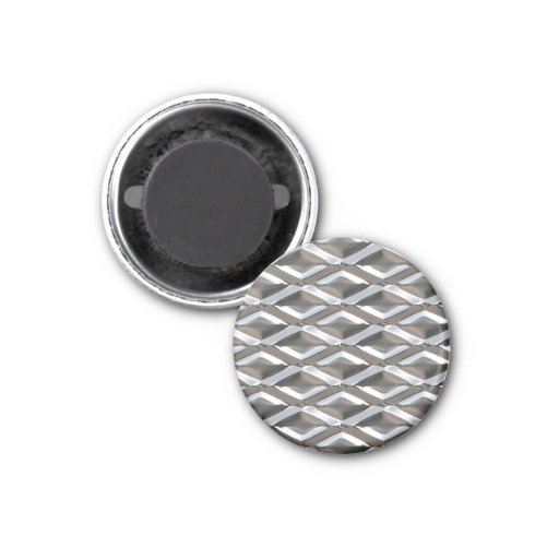 Seamless Diamond Shaped Chrome Plated Metal Fridge Magnets