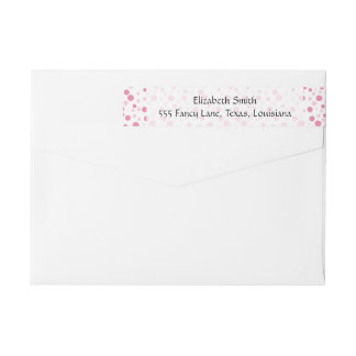 Seamless Dots, Spots (Dotted Pattern) - Pink Wrap Around Label