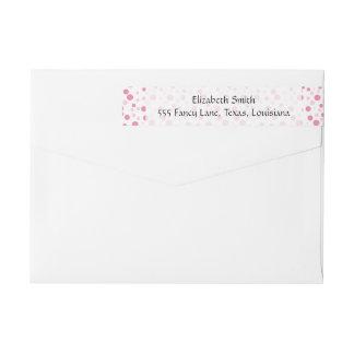 Seamless Dots, Spots (Dotted Pattern) - Pink Wraparound Return Address Label