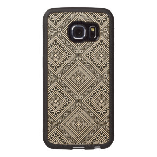 Seamless Ethnic Pattern Wood Phone Case