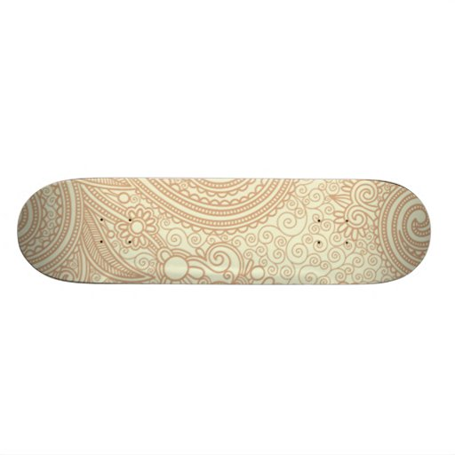 Seamless Floral Pattern Background SOFT TAN PINK S Skate Decks