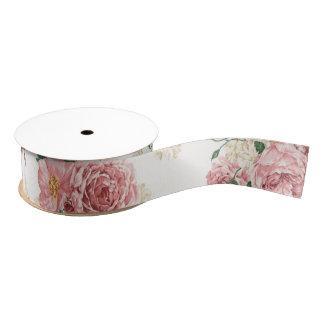 Seamless Floral Print Grosgrain Ribbon