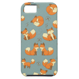 Seamless Fox and Butterfly Pattern Tough iPhone 5 Case
