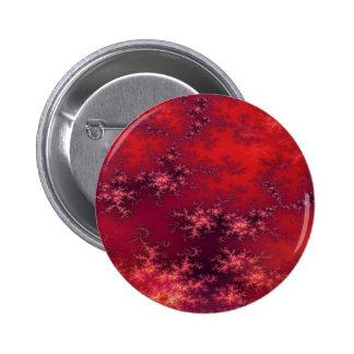 Seamless Fractal Red 6 Cm Round Badge