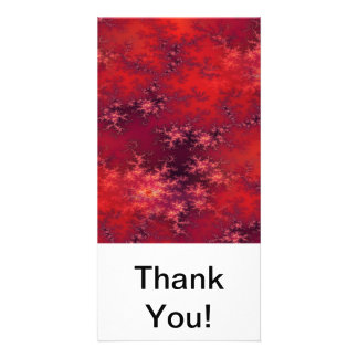 Seamless Fractal Red Customised Photo Card