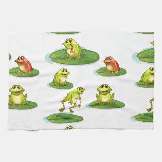 Seamless frogs tea towel