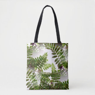 Seamless Green Leaves Tote