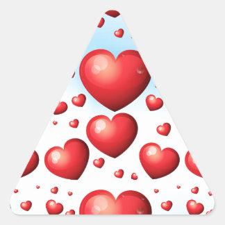 Seamless hearts triangle sticker