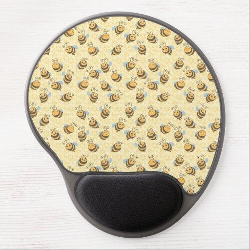 Seamless Honey Bee Pattern Gel Mouse Mat