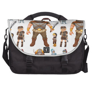 Seamless knight and viking bag for laptop