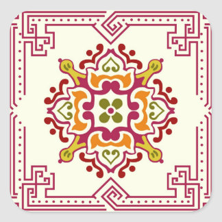 Seamless ornament tiles square sticker