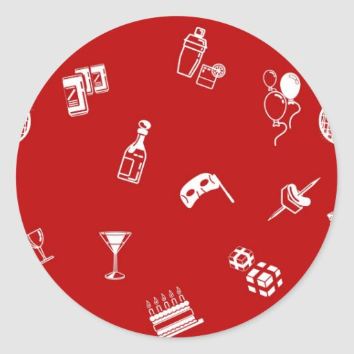 Seamless party background texture round stickers