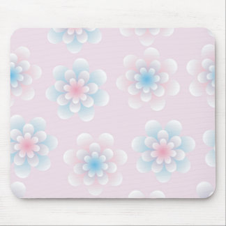 seamless pastel flowers mouse pad