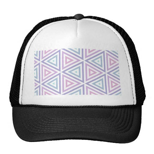 Seamless Pastel Triangles Trucker Hat
