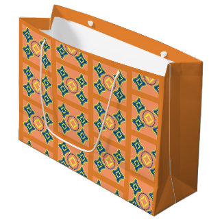 Seamless pattern easy carry gift bag