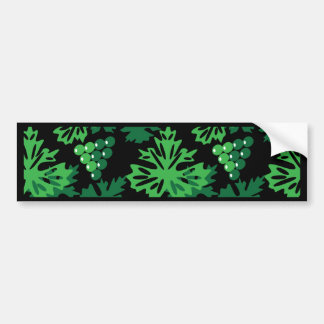 seamless pattern of leaves with grapes bumper sticker