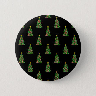 Seamless pattern with Christmas trees 6 Cm Round Badge