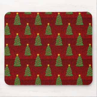 Seamless pattern with Christmas trees Mouse Mat