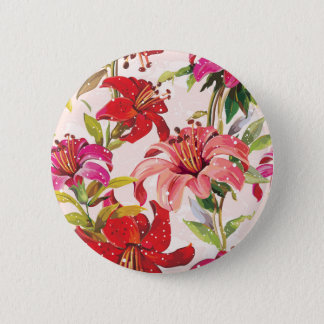 Seamless pattern with Lily 6 Cm Round Badge