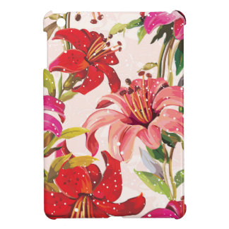 Seamless pattern with Lily iPad Mini Cover