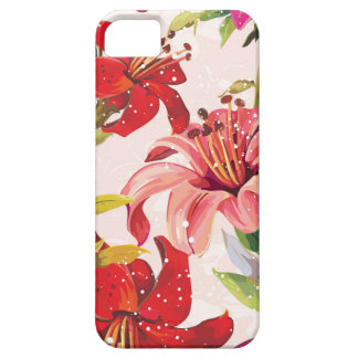 Seamless pattern with Lily iPhone 5 Case