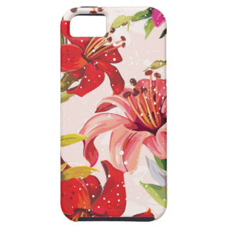 Seamless pattern with Lily iPhone 5 Covers