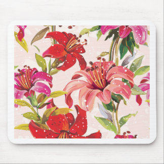 Seamless pattern with Lily Mouse Mat