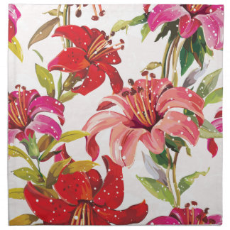 Seamless pattern with Lily Napkin