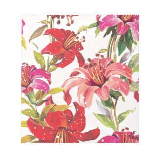 Seamless pattern with Lily Notepad