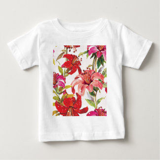 Seamless pattern with Lily Shirt