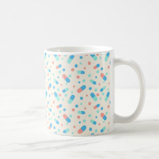 Seamless pattern with pills coffee mug