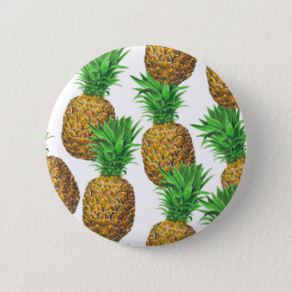Seamless pattern with pineapples 6 cm round badge