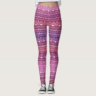 Seamless Pink And Purple Leggings