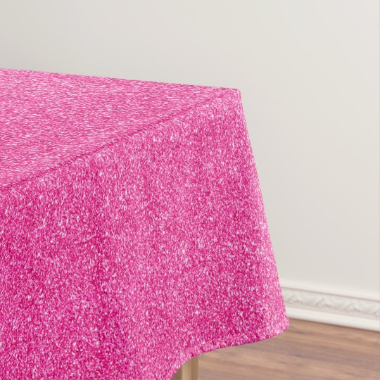 Seamless Pink glitter sparkles glamourous pattern Tablecloth