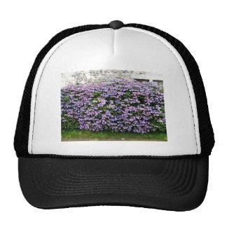 Seamless Purple Flowering Hedges Trucker Hat