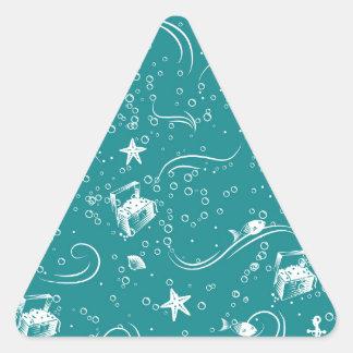Seamless Seascape Triangle Sticker