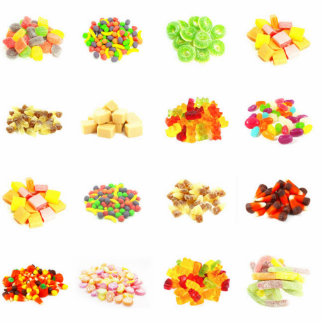 Seamless Sweets and Candy Pattern Background Photo Sculpture Decoration