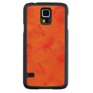 Seamless Texture Background Abstract Orange And Carved Maple Galaxy S5 Case