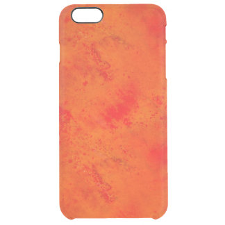 Seamless Texture Background Abstract Orange And Clear iPhone 6 Plus Case