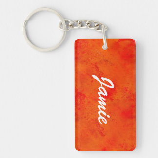 Seamless Texture Background Abstract Orange And Double-Sided Rectangular Acrylic Key Ring