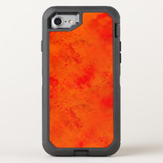 Seamless Texture Background Abstract Orange And OtterBox Defender iPhone 8/7 Case